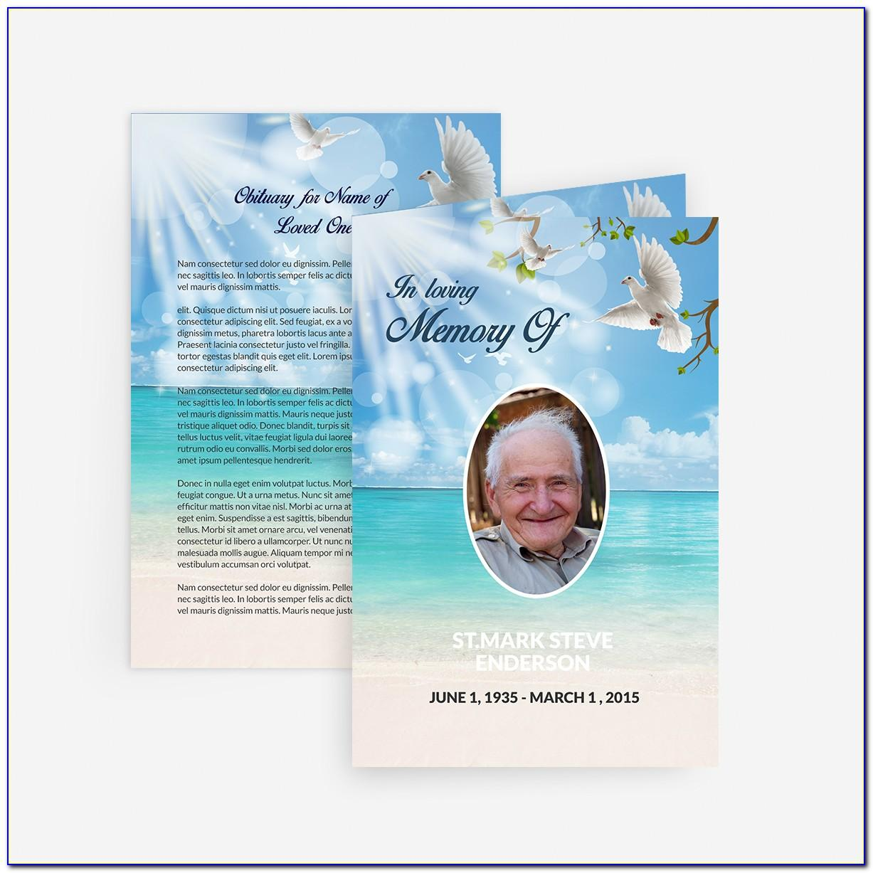 Funeral Announcement Cards Template Free