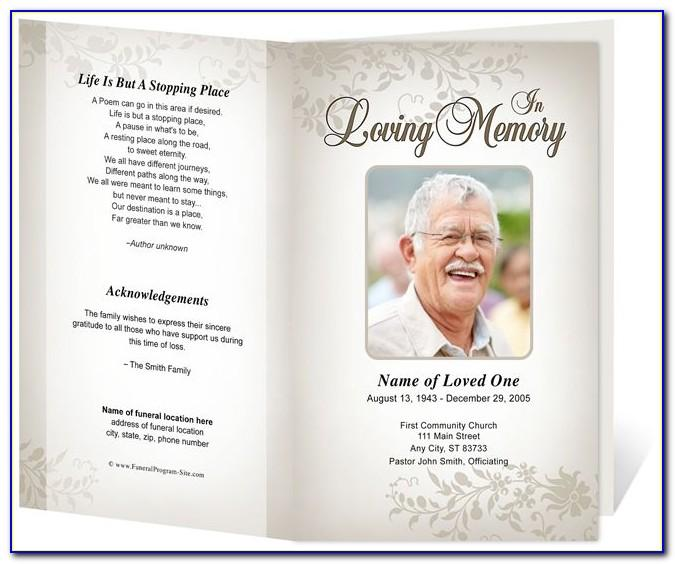 Funeral Bulletin Template Word