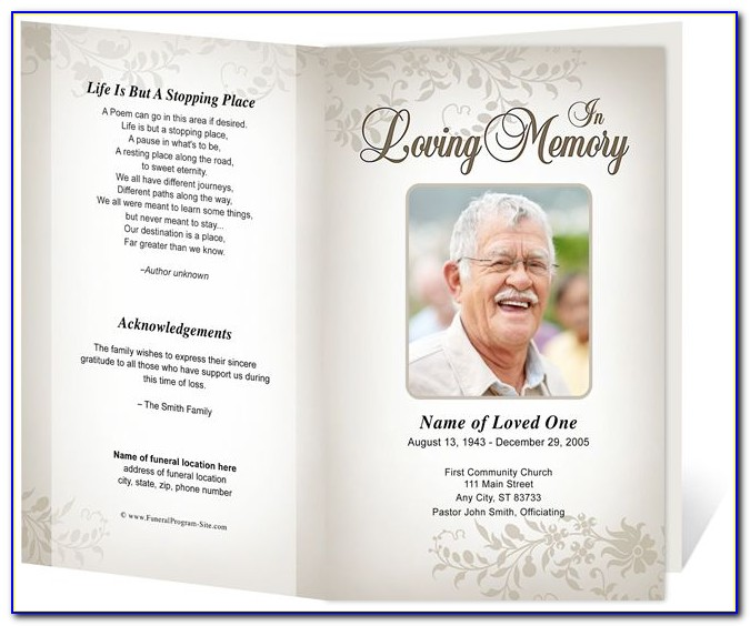 Funeral Memorial Templates Free Download