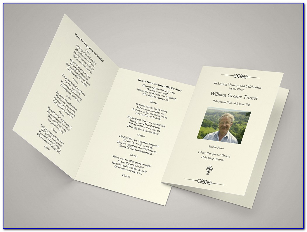 Funeral Order Of Service Template Indesign