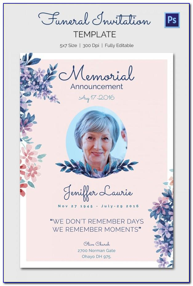 Funeral Memory Cards Free Templates Vincegray2014