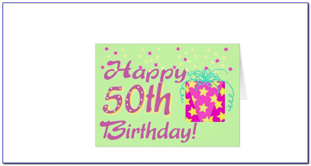 Funny 50th Birthday Card Template