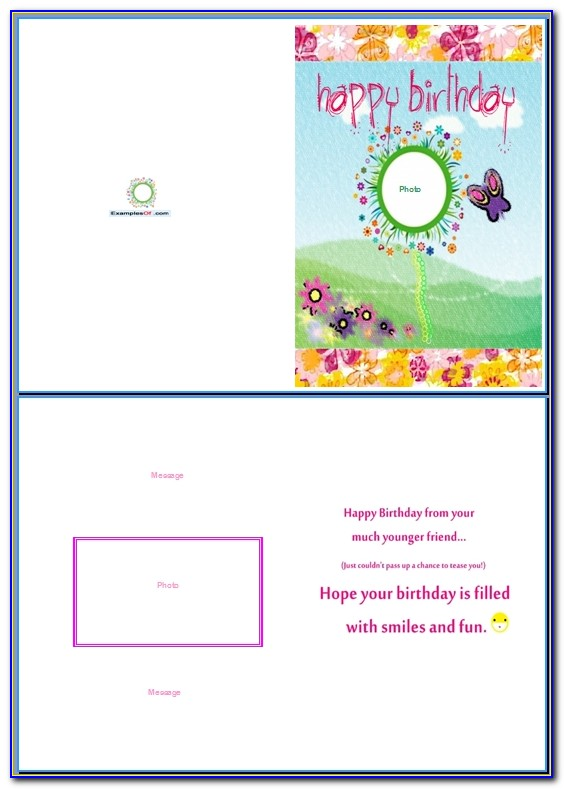 Funny Birthday Card Template Word