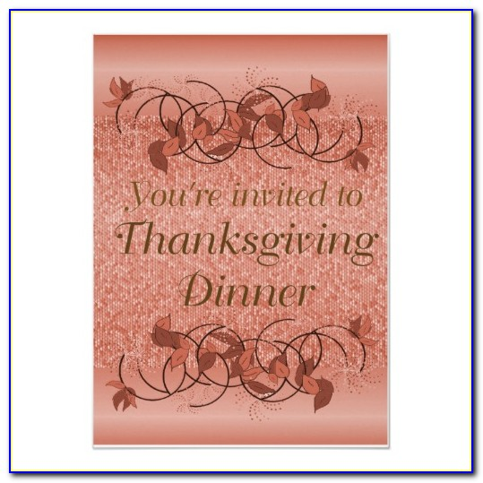 Funny Thanksgiving Dinner Invitation Wording