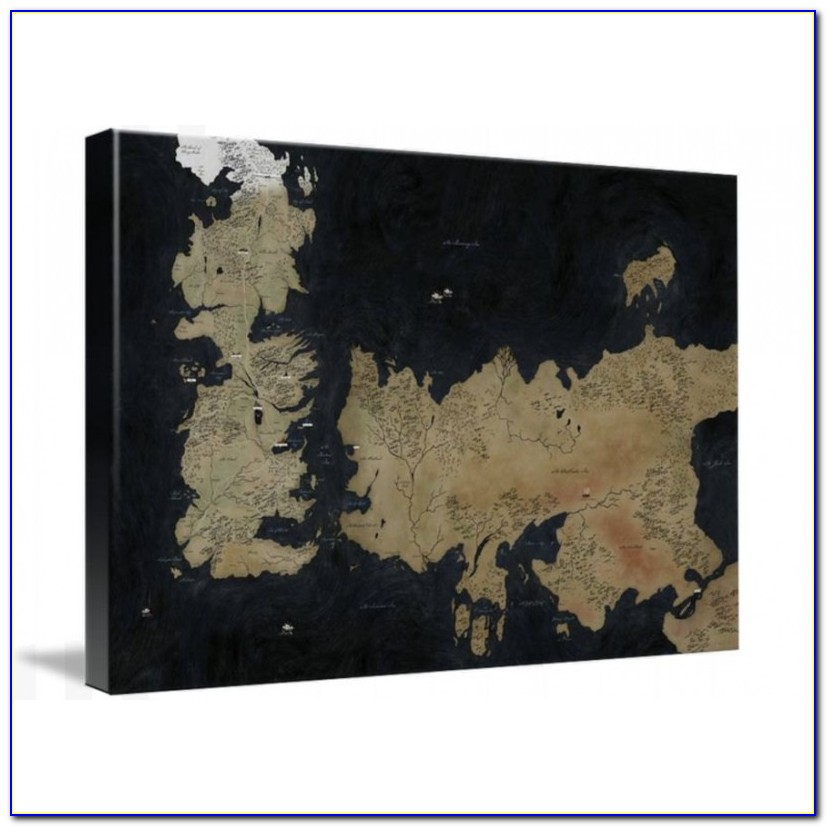 Game Of Thrones Framed Map