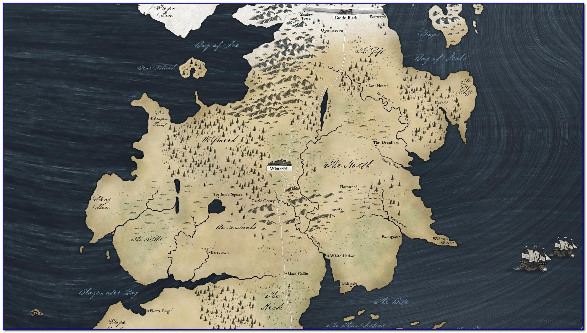 Game Of Thrones Map Wall Art