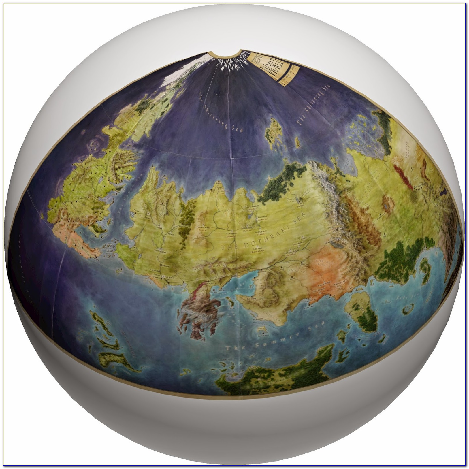 Game Of Thrones World Map Globe