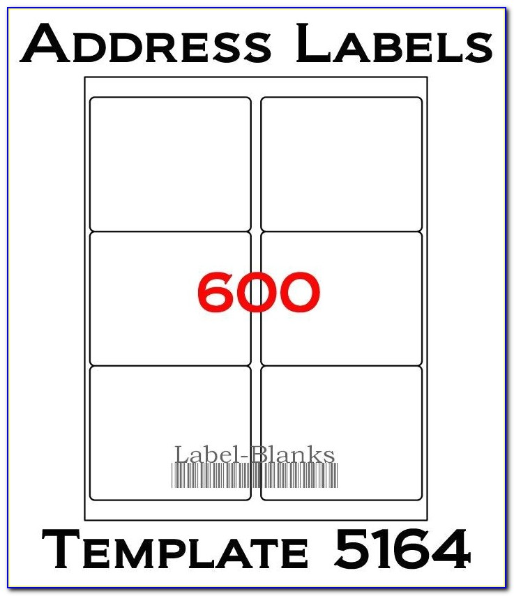 Avery Shipping Label Template 5164 4 X3 1 3 Laser Ink Jet Labels 600 Labels Compatible W