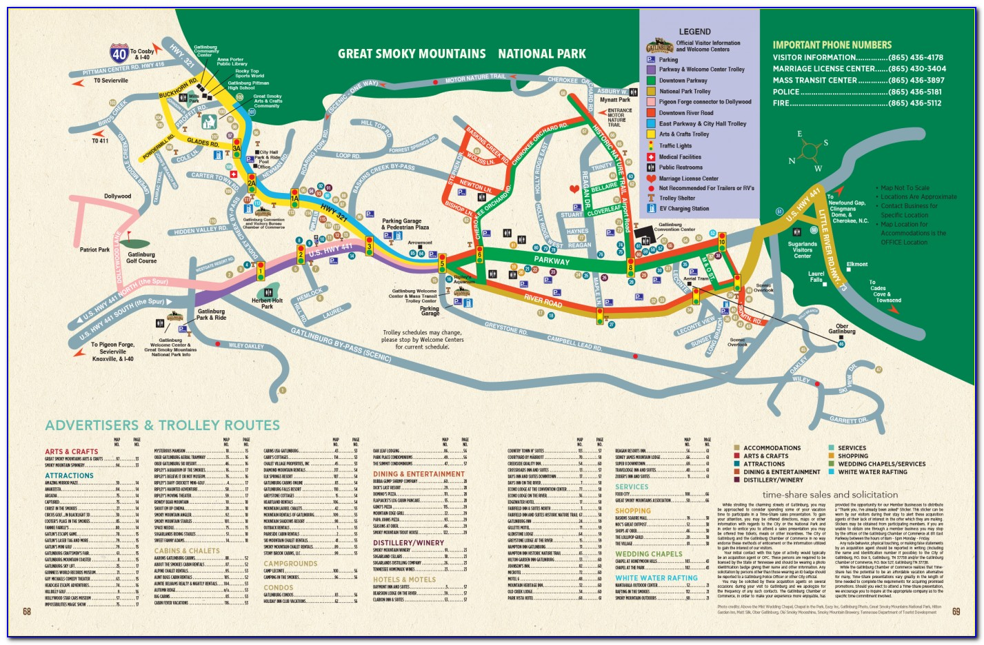 Gatlinburg Tennessee Map With Cities