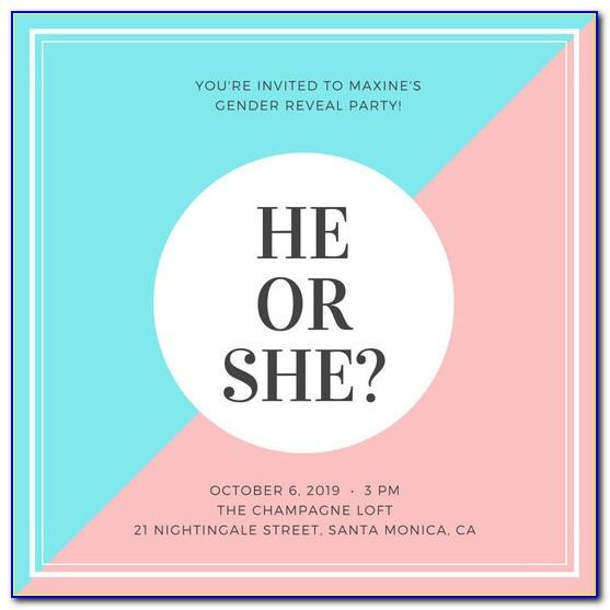 Gender Reveal Flyer Template
