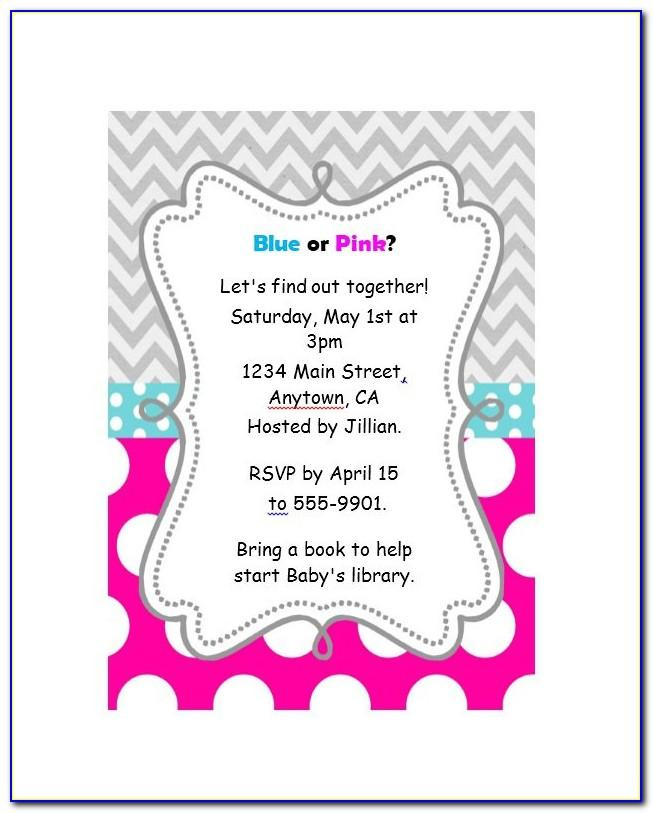 Gender Reveal Party Invitation Templates Free