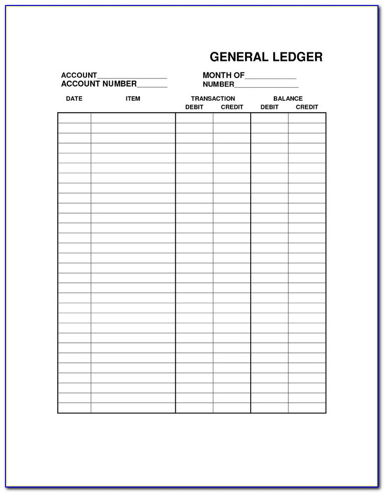 General Ledger Accounting Access Database Template