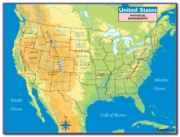 Geographic Regions United States Map