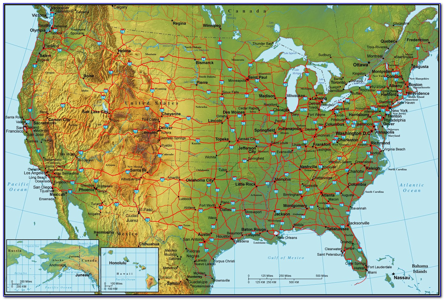 Geographical Center Of The United States Map