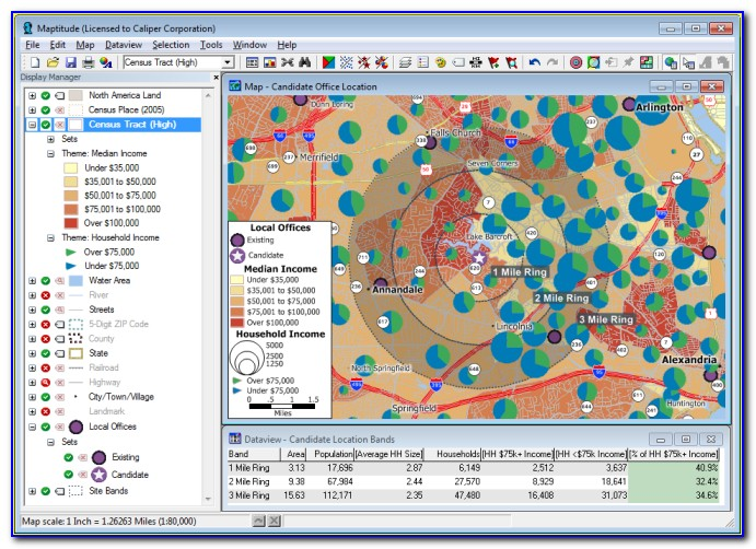 Geographical Data Mapping Software