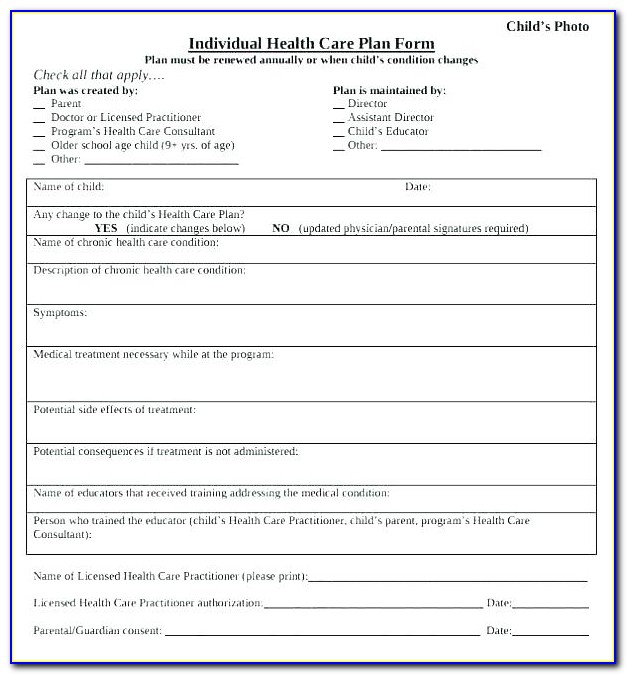 Geriatric Care Plan Template