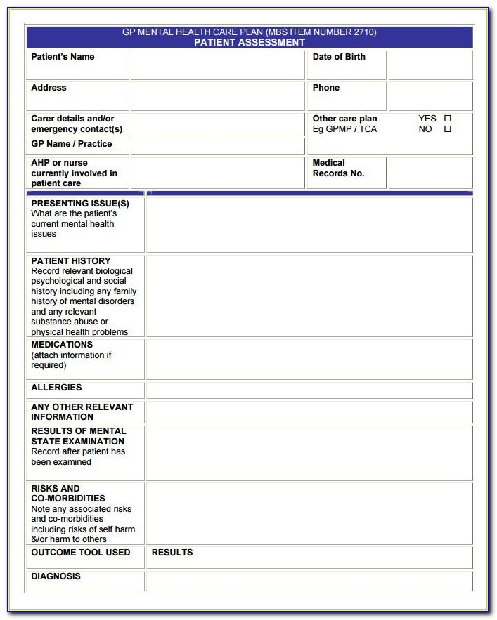 Geriatric Nursing Care Plan Template