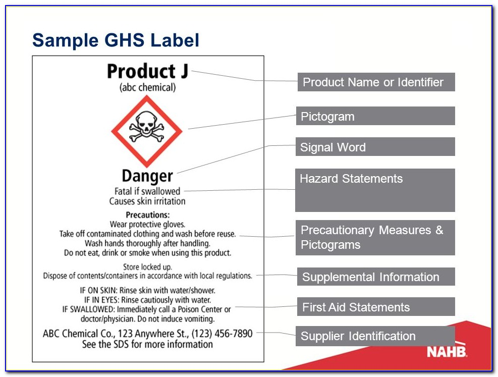 Ghs Label Template Doc