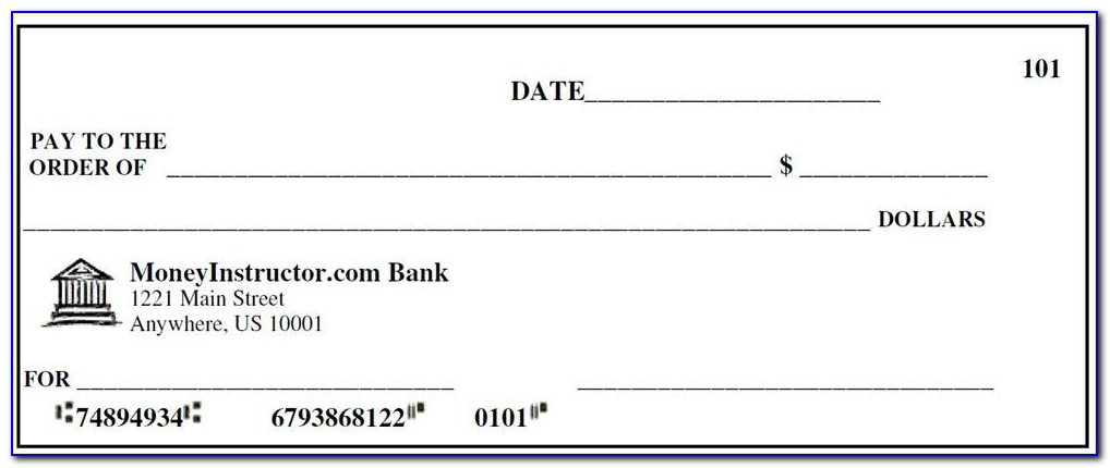 Giant Blank Check Template