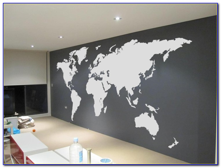 Giant World Map Decal