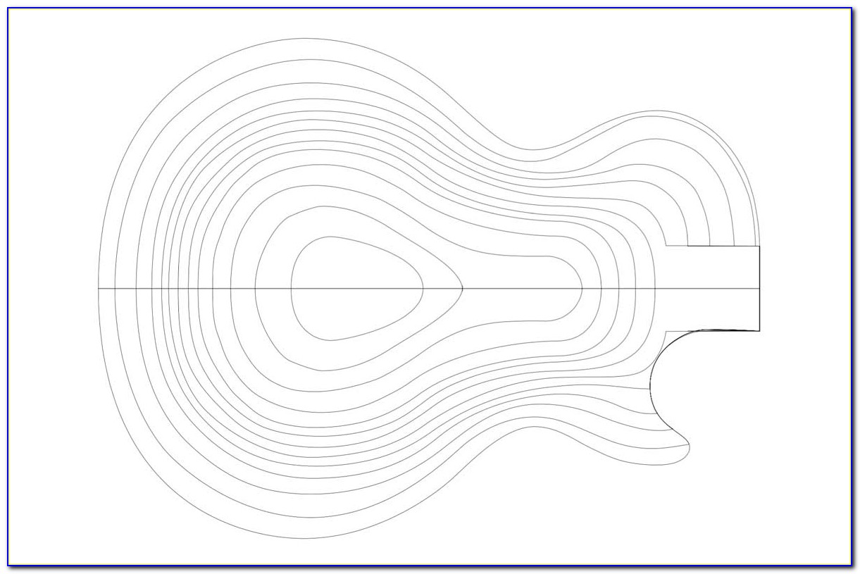 Gibson Les Paul Body Template