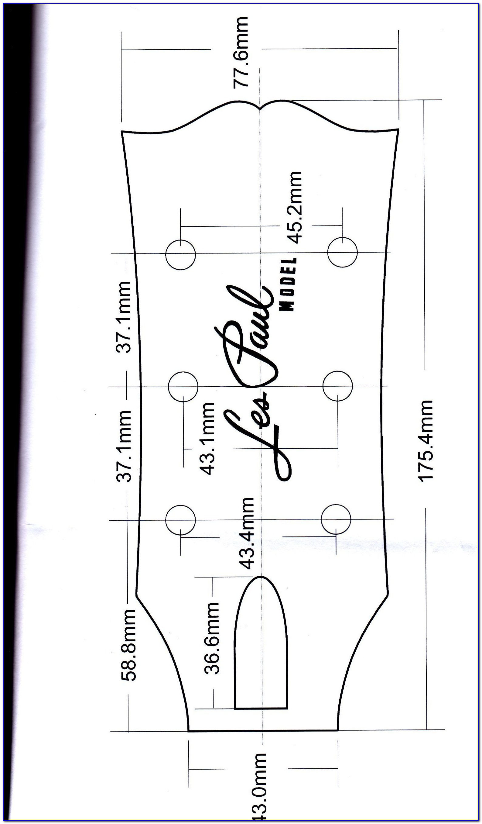 Gibson Les Paul Routing Template