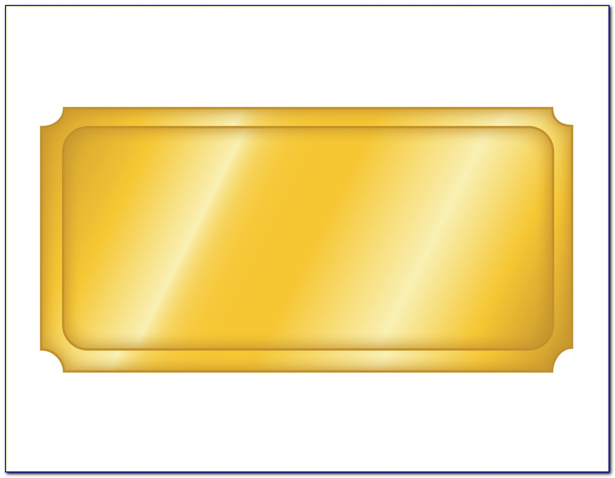 Golden Ticket Template Editable