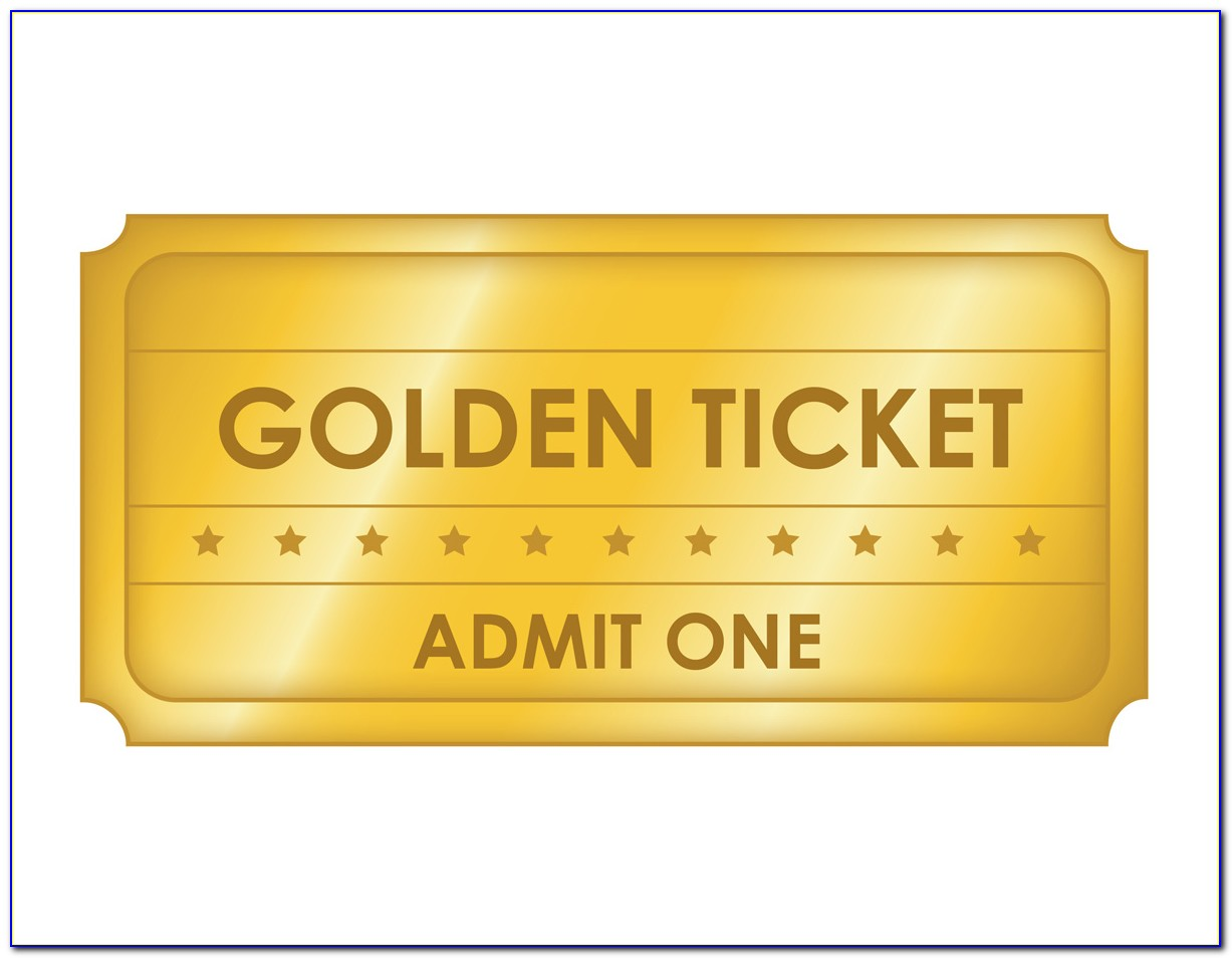 Golden Ticket Template Photoshop