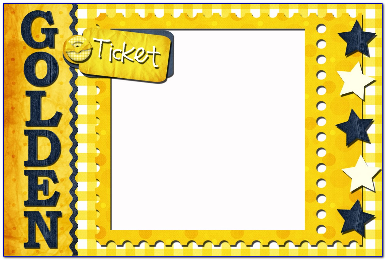 Golden Ticket Template Psd