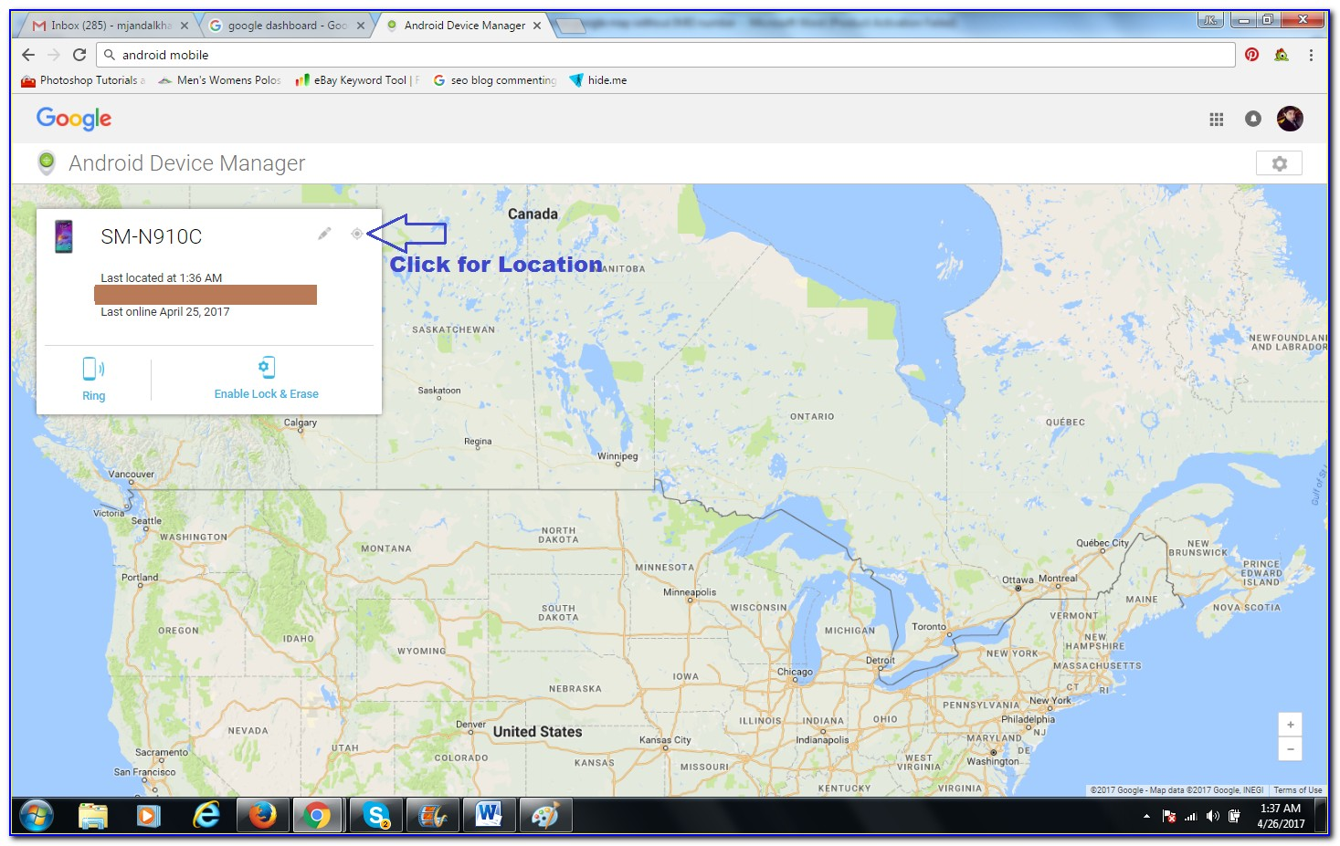 Google Map Mobile Phone Track
