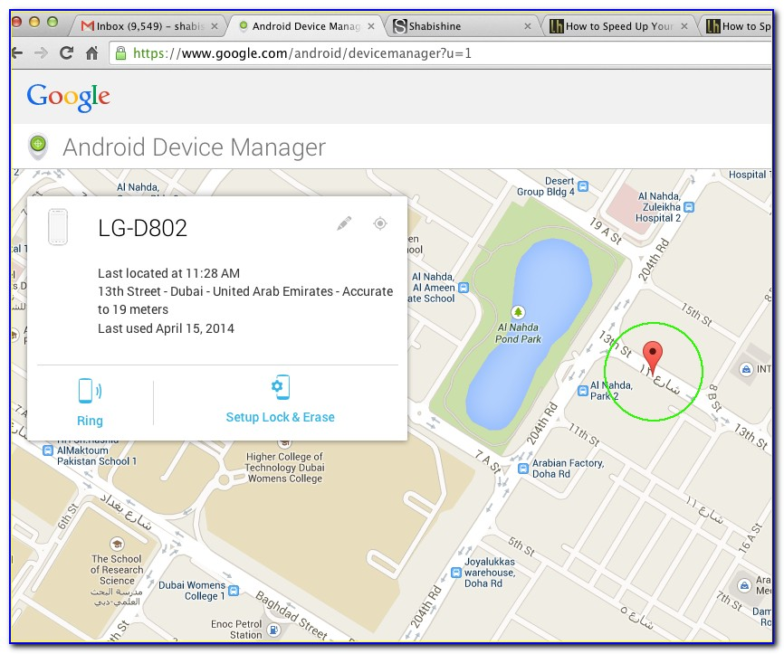 Google Maps Cell Phone Tracking