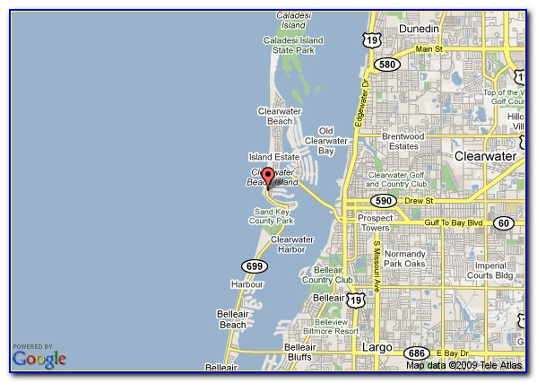 Google Maps Clearwater Beach Hotels