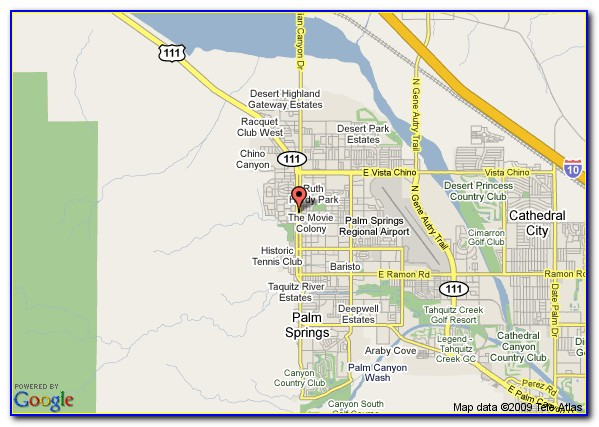 Google Maps Palm Springs Hotels