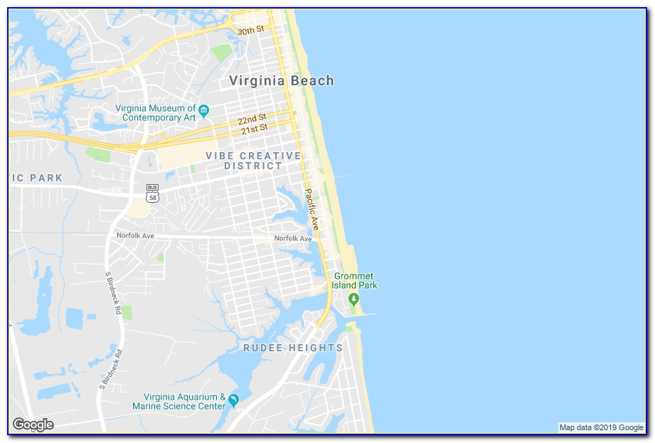 Google Maps Virginia Beach Hotels