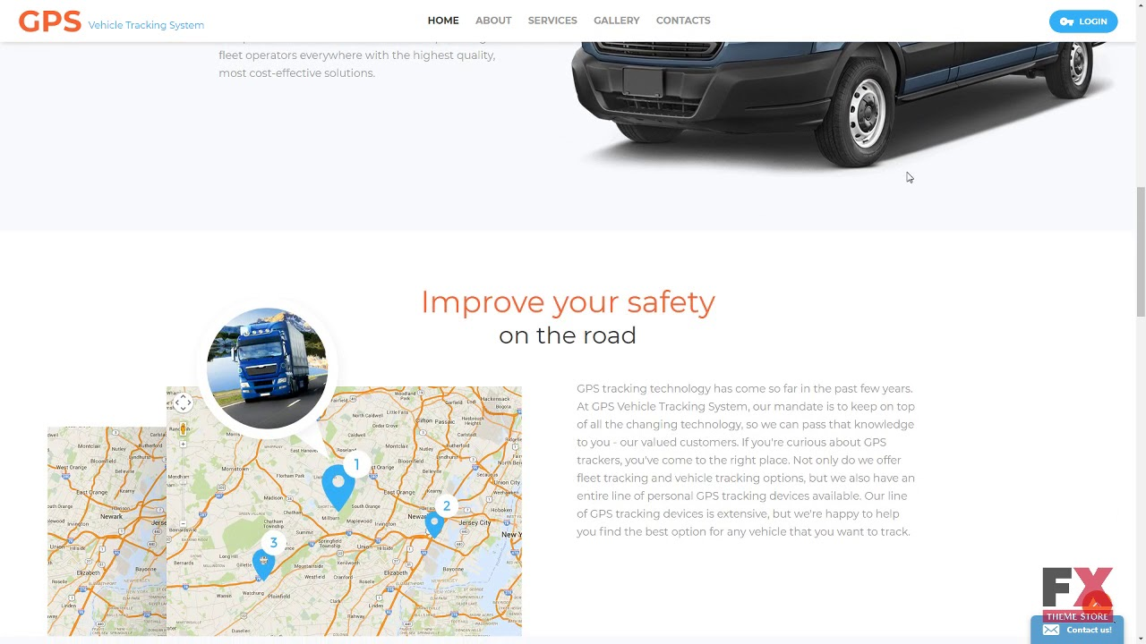 Gps Tracking Website Template