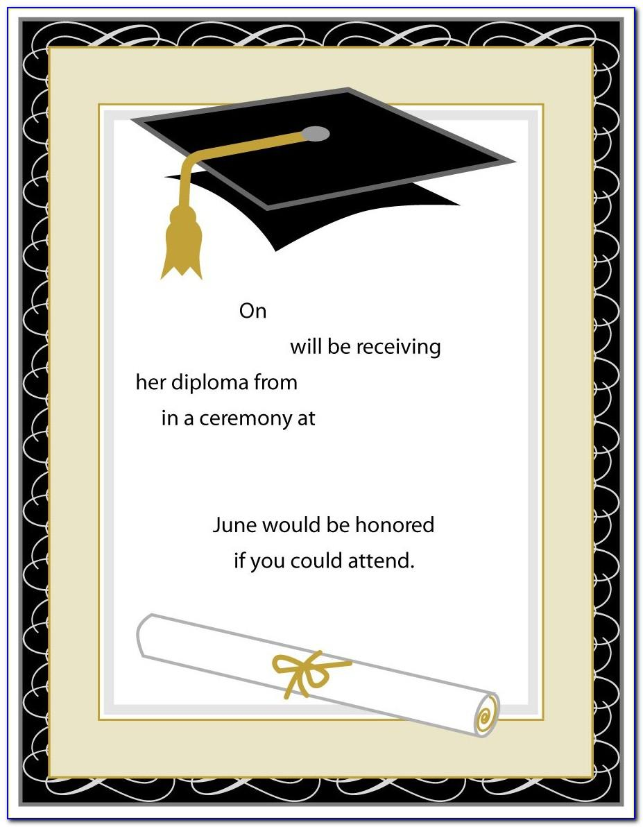 Grad Invitations Templates