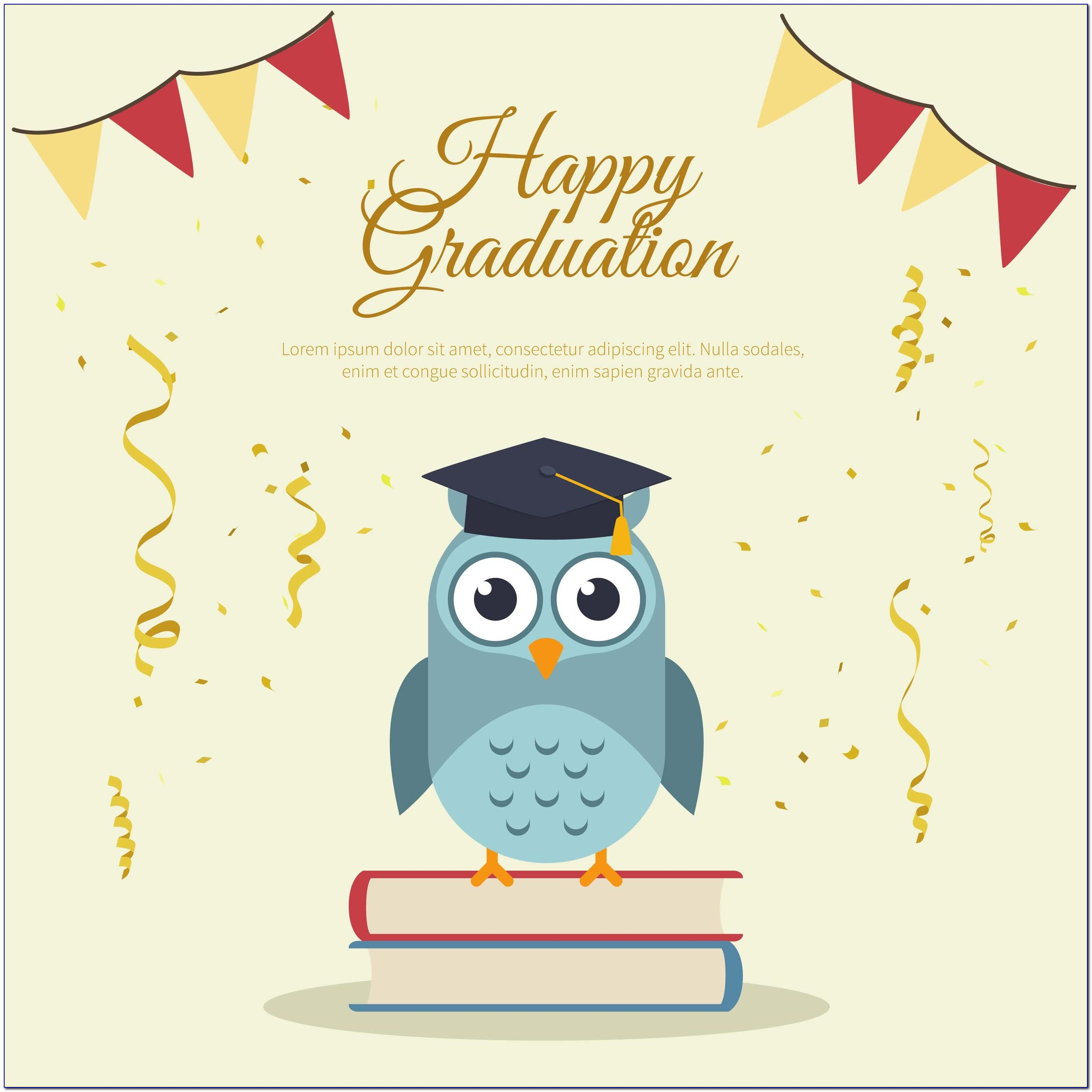 Graduation Congratulations Card Template