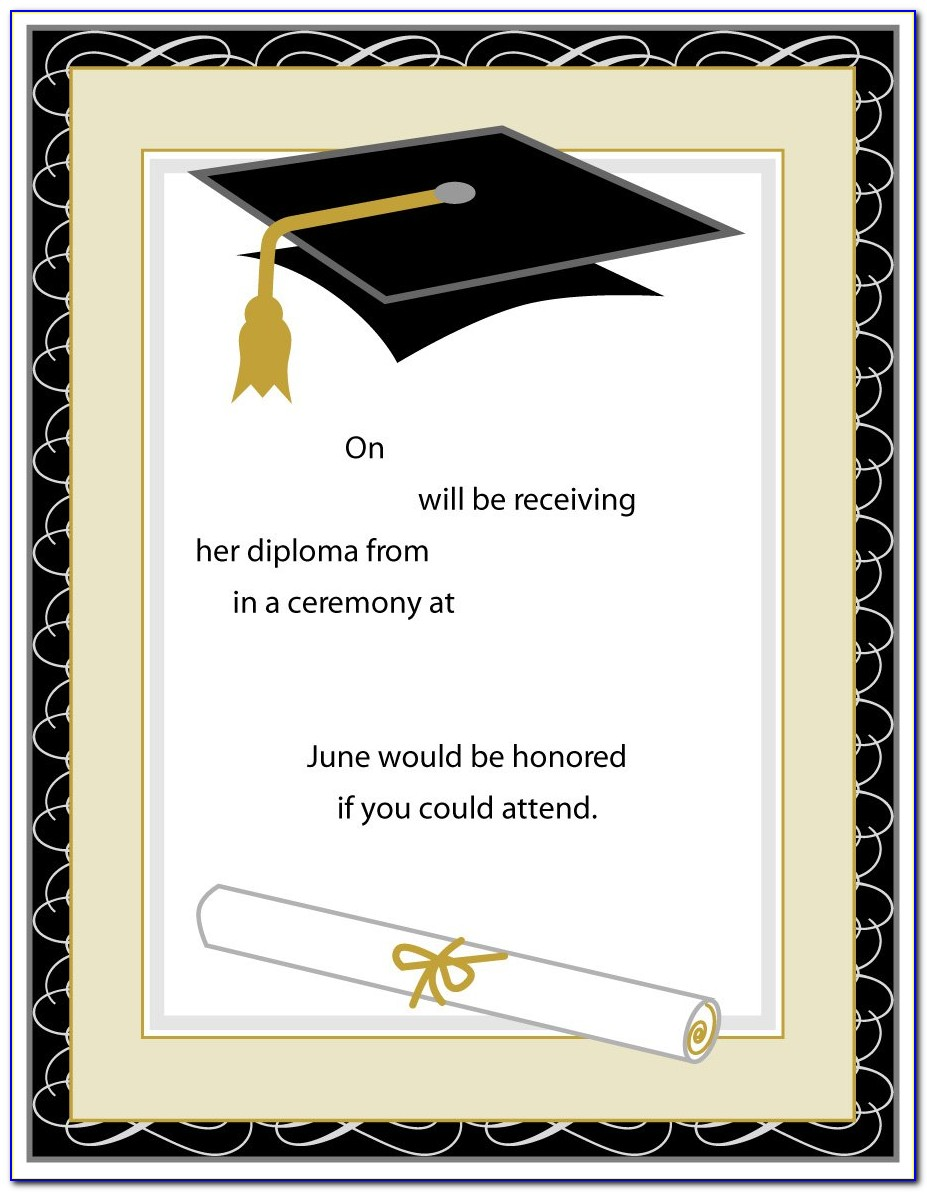 Graduation Invitation Templates For Microsoft Word