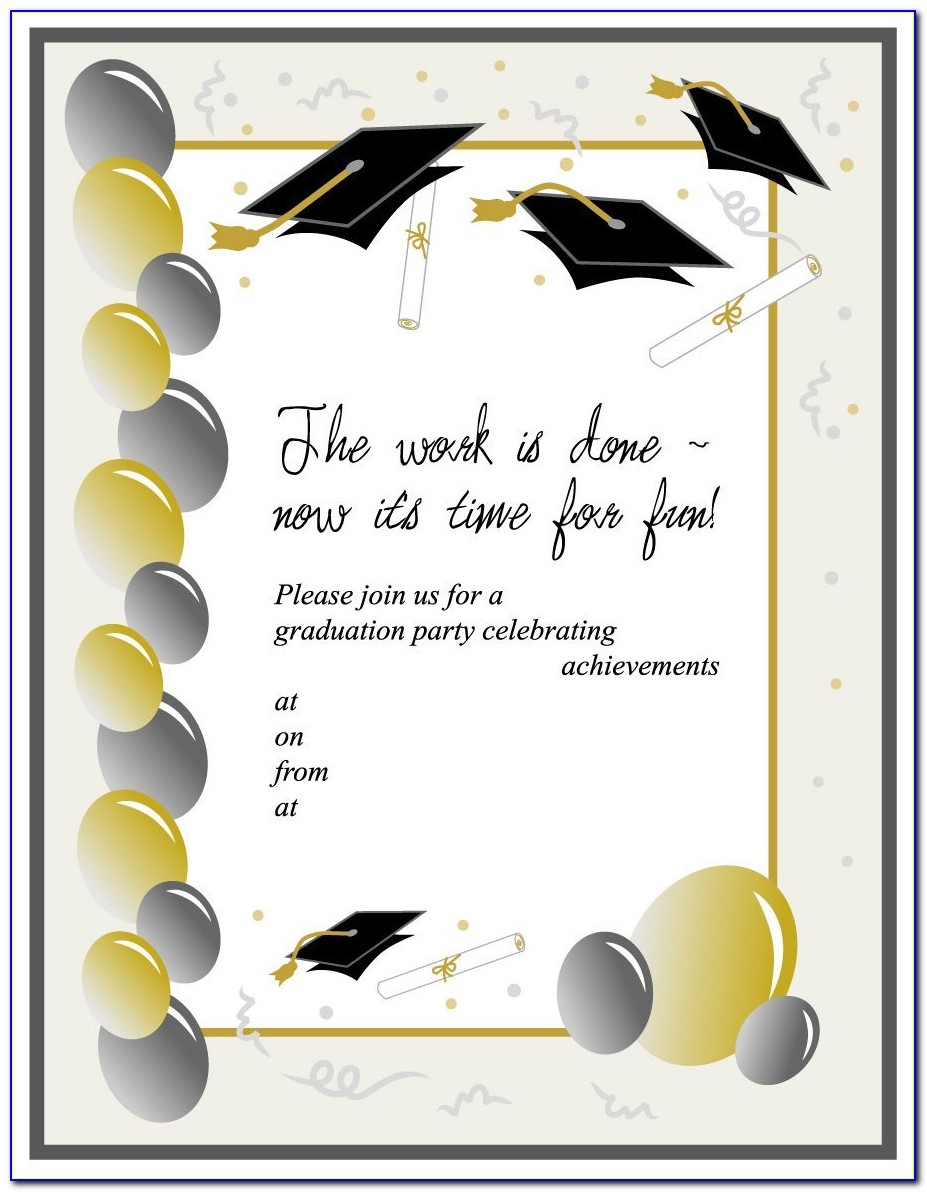Graduation Party Invitations Template Free