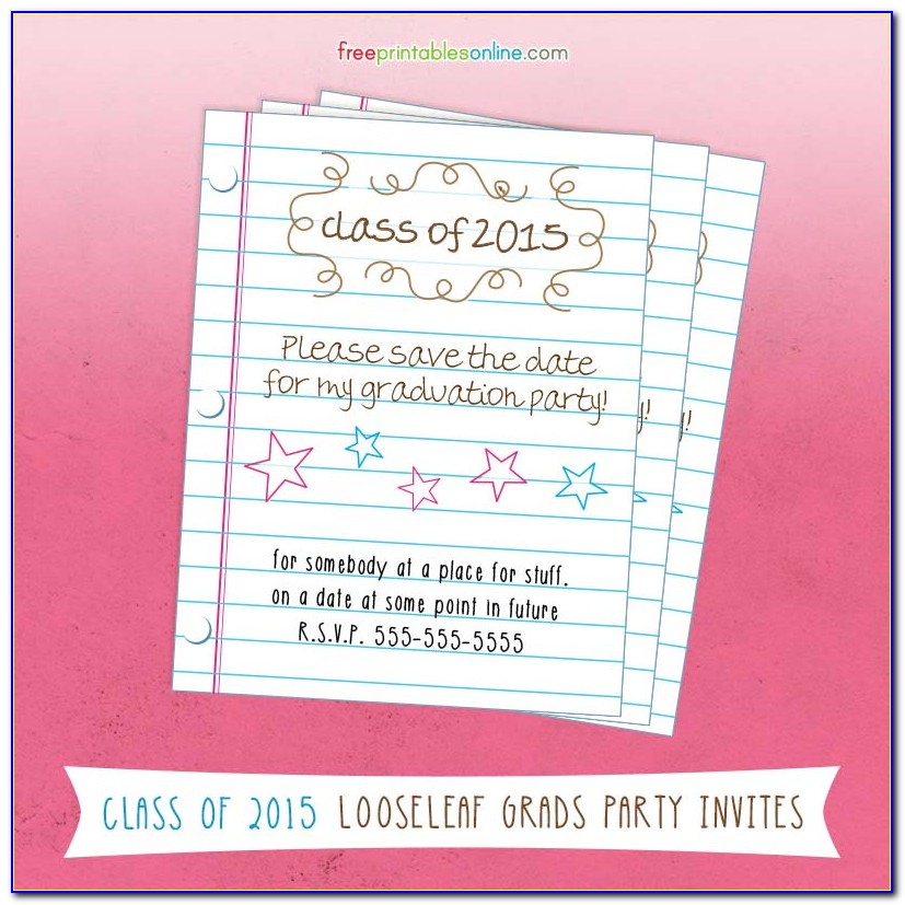Graduation Save The Date Templates Free
