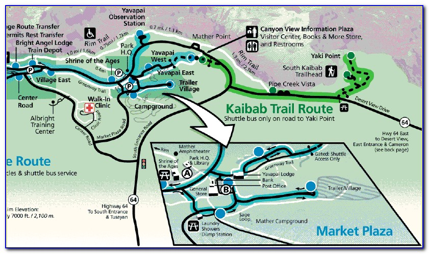 Grand Canyon Hotels South Rim Map