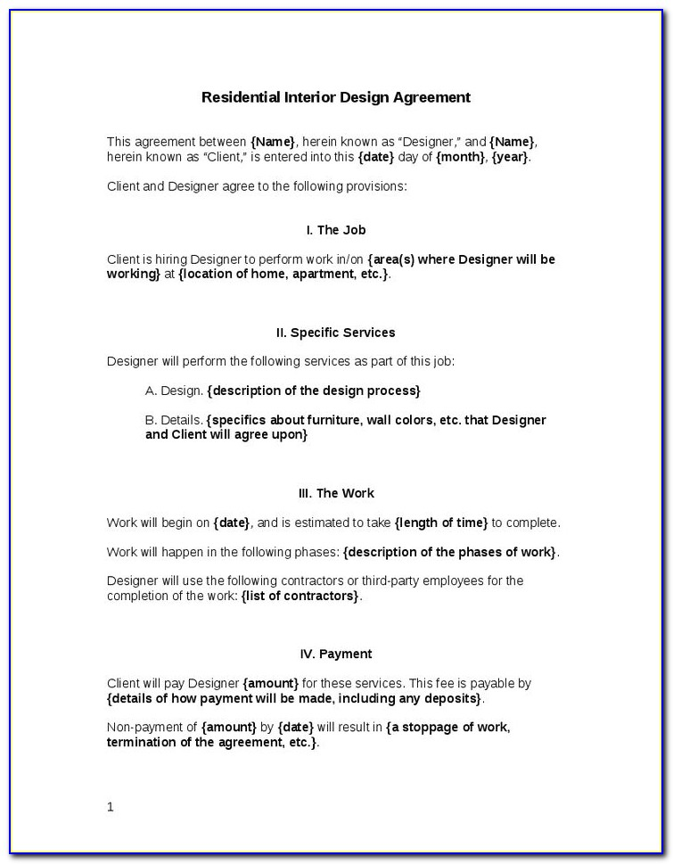 Graphic Design Contract Template Free