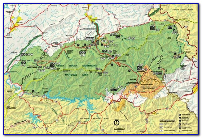 Great Smoky Mountain National Park Map Pdf