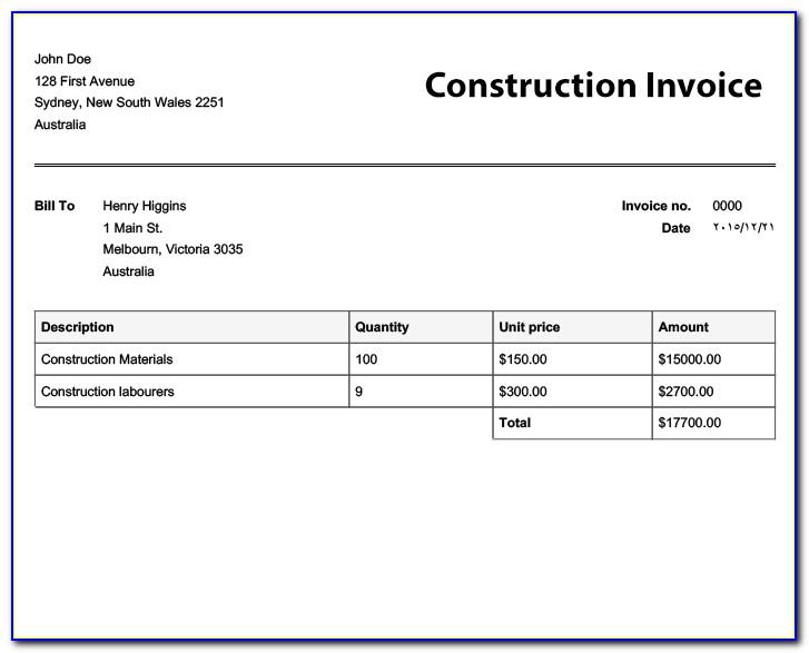 Gst Invoice Format For Builders