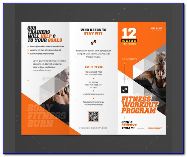 Gym Flyer Template Free