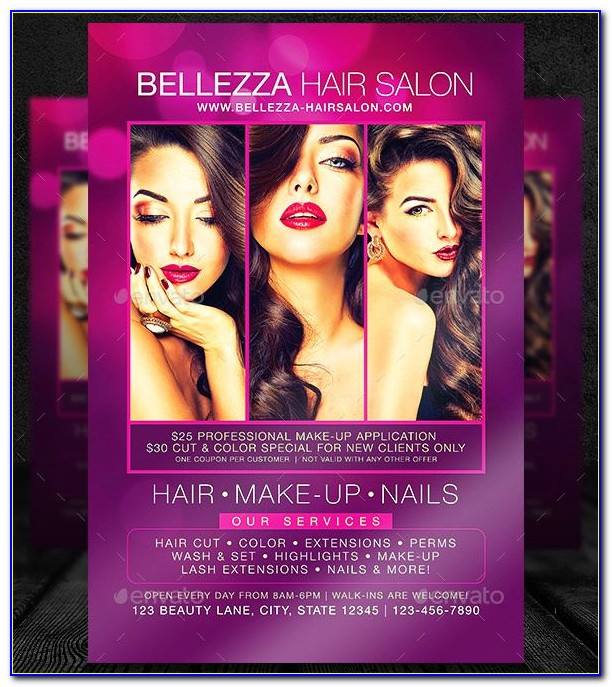 Hair Salon Flyer Template Download