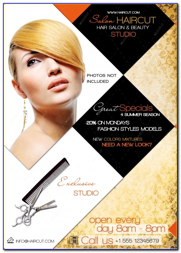 Hair Salon Flyer Template Graphicriver