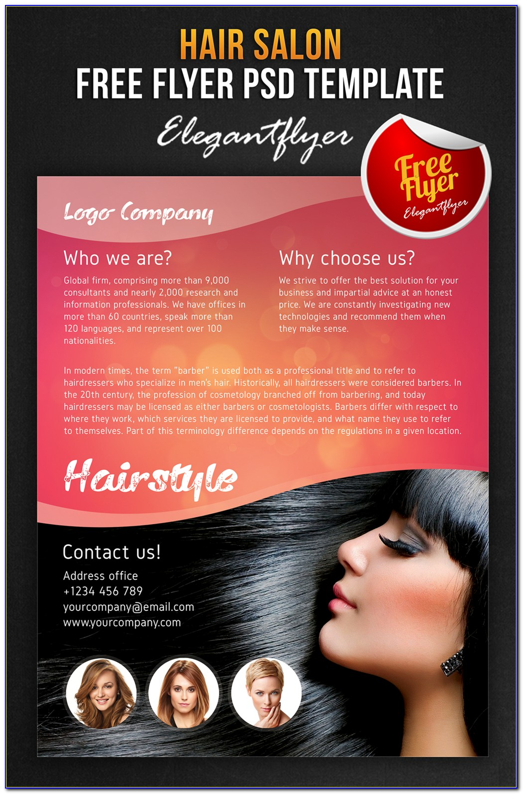 Hair Salon Flyer Templates Psd