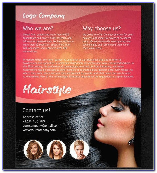 Hair Salon Menu Templates