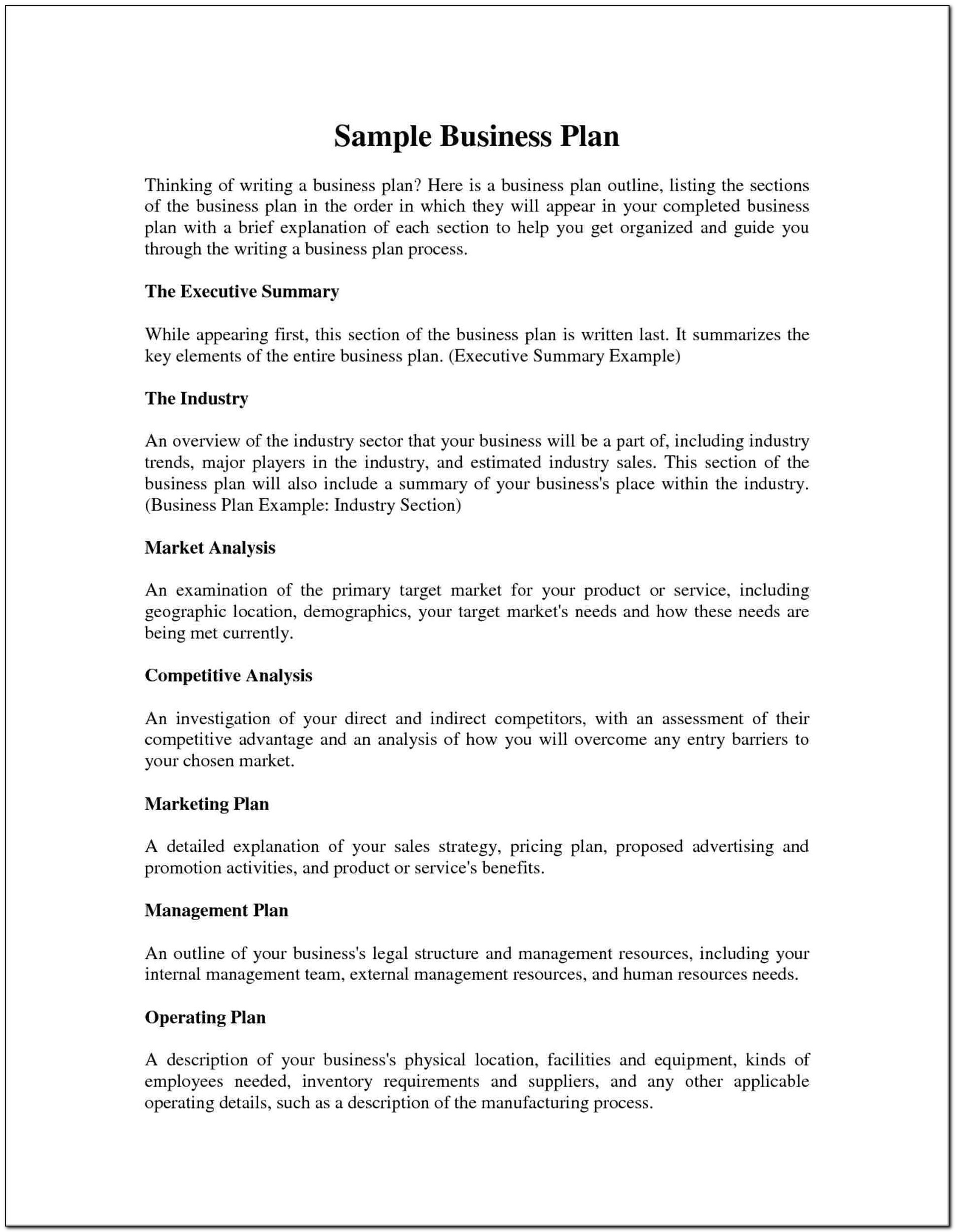 Hairdressing Business Plan Template